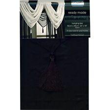 Country Club Single Voile Curtain Swag Net Black 56 X 45cm Slot Top Decor Drape