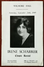 Irene Scharrer, Chopin Recital, Wigmore Hall, London, September 24th 1949 Progra