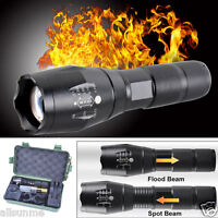 5000LM Tactical Zoomable XML T6 LED Military Flashlight Torch Light Lamp UK G700