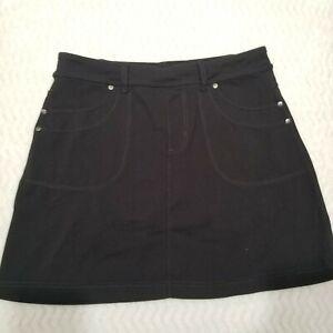 Athleta Skort Women Size Medium Black Pockets Drawstring Outdoors Athletic EUC