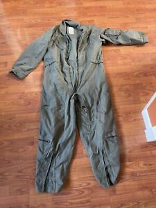 US MILITARY CWU-27/P Flyers Coveralls Men Summer Sz 44s   Sage Green