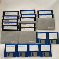 RARE VTG 1988 5 1/4 & 3 1/2 Floppy Disks with Word Perfect Etc Free Ship