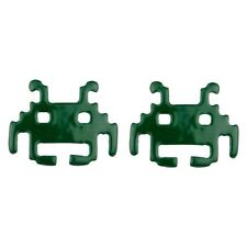 Joe Cool Branded Retro Gamers Space Invaders Alien Stud Earrings - Green