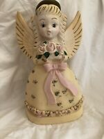 """Vintage A. N Brooks Corporation, CHICAGO ANGEL BLOW MOLD LIGHTED 13"""" Christmas"""