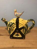 vintage Tony Carter Hose Teapot/collecters Bird Ceramic Ornament