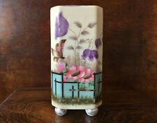 More details for antique victorian aesthetic movement porcelain vase hand painted 1880s 5.5 inch