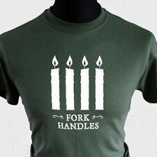 Fork Handles T Shirt Four Candles Retro Funny Two Ronnies Cool British Comedy mg