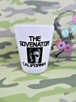 The Govenator California Shot Glass White Ceramic Arnold Schwarzenegger 2 Ounce
