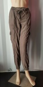 New Mocha Cargo Pocket Loose Fit Trousers From Select Size: 8-16