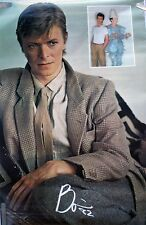 RARE DAVID BOWIE 1982 VINTAGE ORIGINAL MUSIC POSTER