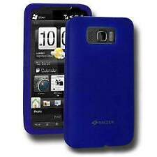 AMZER SILICONE SOFT SKIN FIT JELLY BACK CASE COVE FOR HTC HD2 - BLUE