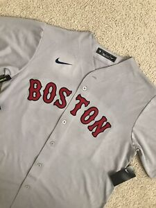 🔥$135 NWT NIKE MLB BOSTON RED SOX MOOKIE BETTS STITCHED JERSEY MENS L GRAY AWAY