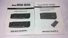 Marantz Owner's Manual - Stereo Cassette Deck / Componets - SD155/SD2555 / TA110