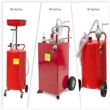20 30 35 Gallon Gas Caddy/Oil Drain Tank Automotive Fuel Transfer Pump Portable