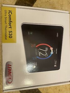 "Lennox 19V30 iComfort S30 Ultra Smart Programmable Thermostat 7"" HD Display NEW"