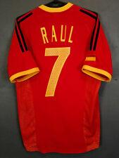 VINTAGE RAUL ADIDAS SPAIN 2002/2004 SOCCER FOOTBALL SHIRT JERSEY CAMISETA SIZE S