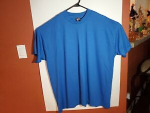 Vintage Single Stitch Fruit of the Loom Best Blank Blue T-Shirt 3XL XXXL USA