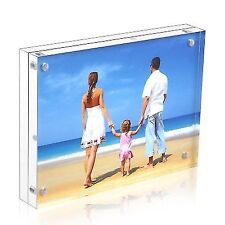 Niubee Acrylic Picture Frame 5x7 20 Thicker Block Clear Double Sided Acrylic
