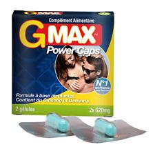 Stimulant Sexuel / Aphrodisiaque Puissant Hommes G-Max PowerCaps - 2 gélules