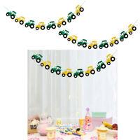 2x Traktor Filz Banner Girlande Baby Shower Geburtstag Indoor Outdoor Dekor