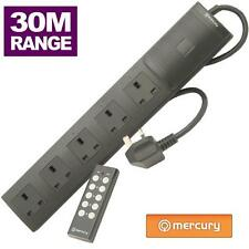 Mercury 5 Gang 2m Surge Protection Extension Lead With Remote Control