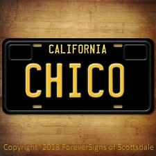 Chico California City/College Vanity License Plate Black