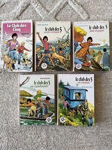 Le Club Des Cinq - Enid Blyton - Bibliothèque Rose - Lot de 5 Livres