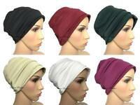 💗Stylish 2 piece Turban hats underscarf cap hijab, stretchy material chemo