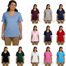 Hanes Womens Tagless V Neck T Shirt Comfort soft cotton Vneck Tee S-3XL 5780