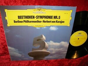 1977 GERMAN NM DG 2531 105 STEREO BEETHOVEN SYMPHONY 5 BPO KARAJAN COVER EXC+