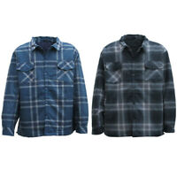 Men's Flannelette Long Sleeve Shirt Premium Check Flannel Polar Jacket 3XL-6XL