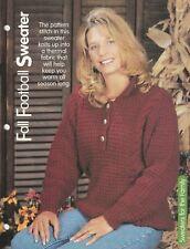Knitting Pattern ~ Ladies Pretty Fall Sweater ~ Instructions