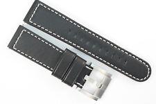 TW Steel Marc Coblen Edition Uhrenarmband 22mm Bobustes, Weiches Leder Schwarz