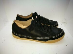 Clarks black leather casual shoes size uk 5.5
