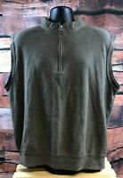 Peter Millar Mens Crown Quarter Zip Pullover Vest Brown Size XL 100% Cotton