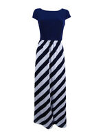 SL Fashions Women's Diagonal Stripe Maxi Dress