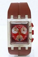 Orologio Swatch square chrono red round watch swatch SUEK401 clock montre reloj