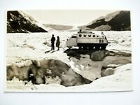 Banff Canada Byron Harmon Columbia Icefields Sno-mobile Glacier Photo Postcard