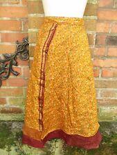 Seidenrock Rock lila Ethno Orient Boho Hippie Gypsy Indien Vintage Sari Goa NEU