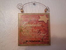 """Mother's Day Plaque """"Grandmother, You Play a Special Part in all thats Treasured"""