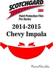 3M Scotchgard Paint Protection Film Pro Serie Pre-Cut Kit 2014 2015 Chevy Impala