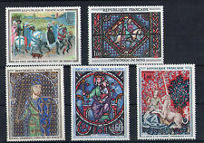 France 5 timbres non oblitérés gomme**  3 Art  peintures - vitraux
