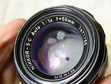 NIKON Ai'd 50mm 1.4 Nikkor-S·C stunning optics. caps + filter included