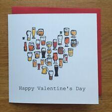 Valentines Card/ Greetings Card/ Beer Card/ Beer Valentines Card/ Valentines Day