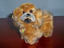 """VTG STEIFF PEKY Pekingese Mohair Dog 5"""" Animal Glass Eyes Swivel Head 1953-1971"""