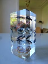 1970 PIERRE GIRAUDON INCLUSION CHAMPAGNE MODERNISTE LUCITE RESINE FRACTALE