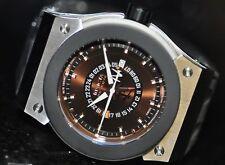 Invicta Mens Rare F0015 Akula Russian Diver Swiss GMT Brown Dial Grey Poly Watch