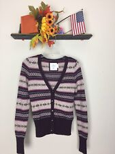 L.O.G.G. BY H&M BUTTON-DOWM WOMENS LONG SLEEVE SWEATER SIZE S