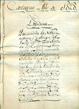 CAPITANES GENERALES ARMADA URIARTE Y SARTORIO. LOTE DOCUMENTOS S. XVIII Y XIX.
