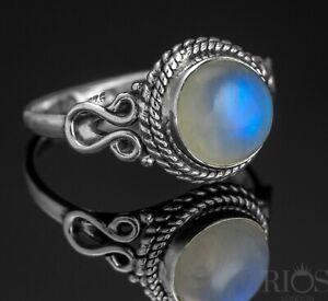 Elegant Moonstone 925 Sterling Silver Gemstone Ring RRP £45.50 Gift Boxed